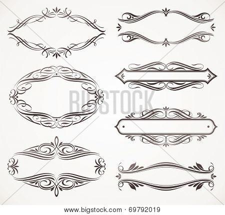 Calligraphic ornate frames
