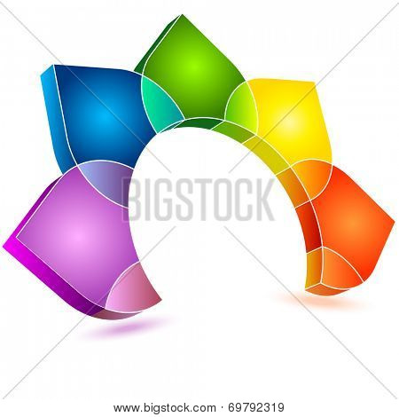 Colorful abstract floral sign