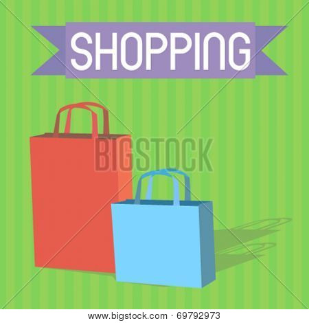 shopping bags - flat design vector