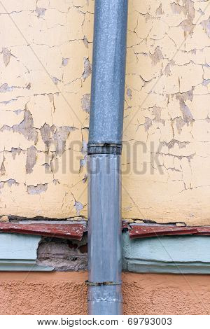 Old Metal Downspout