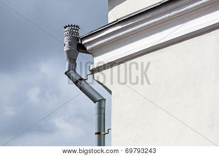 Old Ornate Roof Gutter