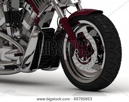Big Wheel Of Motorcycle