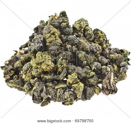 Jin Xuan Oolong Tea with milk flavor (Tea Bao Chao Nai Xiang), isolated on white background