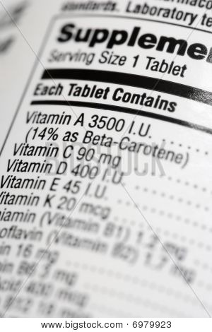 Nutritional Content Label