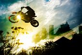 picture of dirt-bike  - Urban Dirt Bike Jump - JPG