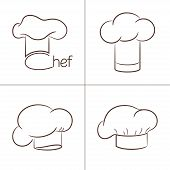 picture of chef cap  - Set of chef - JPG