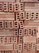 pic of shaky  - red brick pavers stacked  - JPG