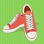 stock photo of flat-foot  - sports shoes  - JPG