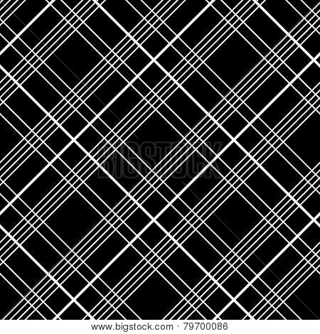 Abstract Seamless Pattern with Plaid Fabric on a black background.