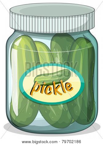 Illustration of a jar of pickle