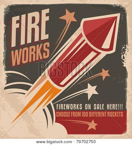 Fireworks Vintage Poster