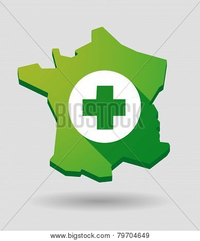 France Green Map Icon With A Wind Generator