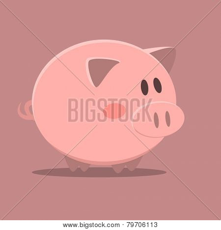 minimalistic illustration of a pig, eps10 vector
