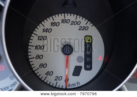 Auto Speedometer On The Control Pannel