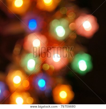 Blurred christmas lights, beautiful bokeh
