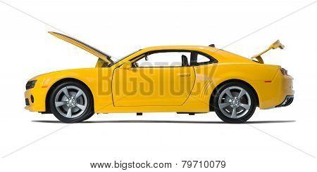 New Yellow Model Chevrolet Camaro Sports