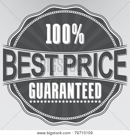 Best Price Guaranteed Retro Label, Vector Illustration
