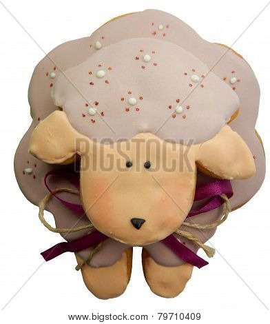 Gingerbread pink sheep