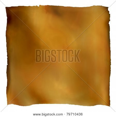 Old paper background illustration. Object isolated on white with path.