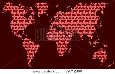 Meat Industry World Red
