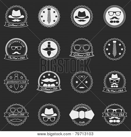 Men's vector emblems and badges