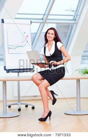 Explaining Businesswoman
