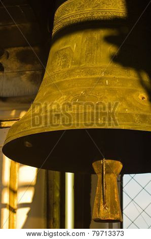 Bell at sunset, Campanila bell tower, piazza San Marco, Venice