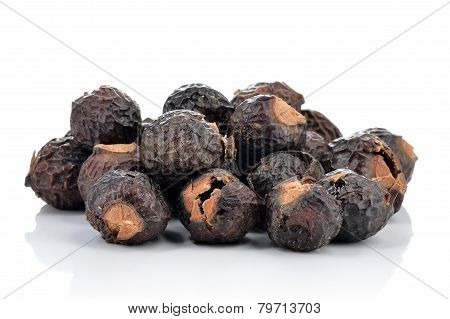 Pile Of Soapnuts Isolated.