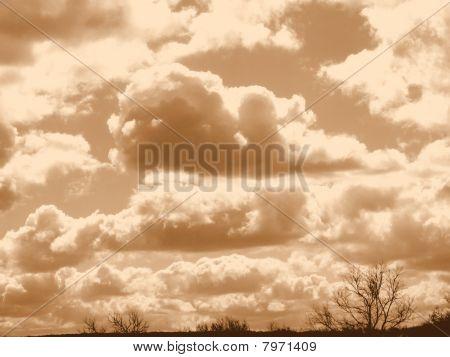 Céu sépia