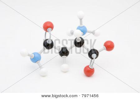 Asparagine Amino Acid Molecule