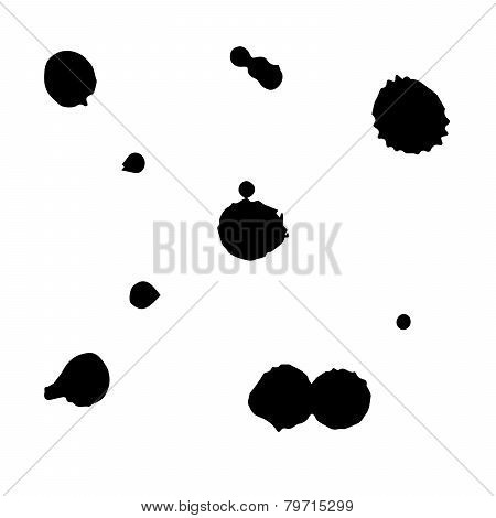 Large blobs of ink contaminated surface