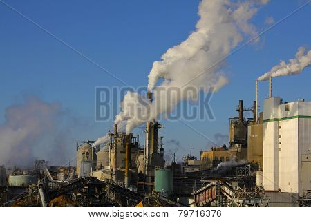 Factory and Smokestacks