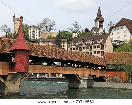 Mill Bridge,lucerne, Switzerland