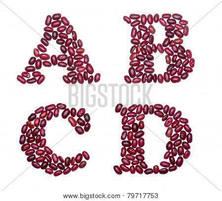 Capital Characters Made Of Red Kidney Beans