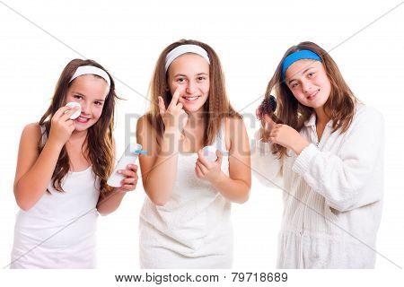 Teen Girls Primping