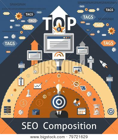 Seo Composition Illustration
