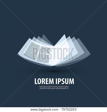 book. logo, icon, sign, emblem, template