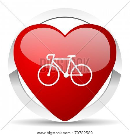 bicycle valentine icon bike sign