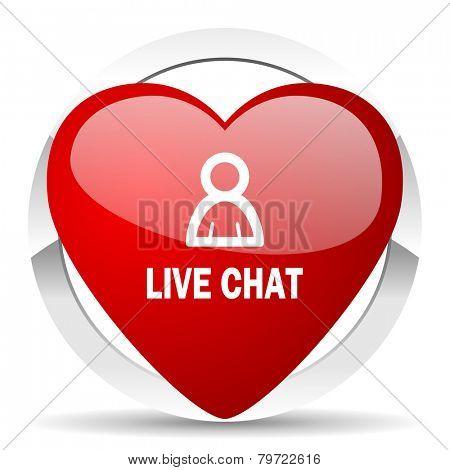 live chat valentine icon