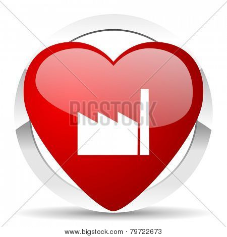 factory valentine icon industry sign manufacture symbol