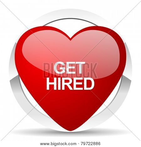 get hired valentine icon