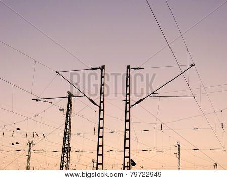 Railway Overhead Wiring -  Power lines