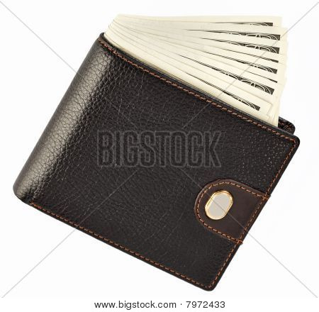 Us Dollars In A Black Wallet