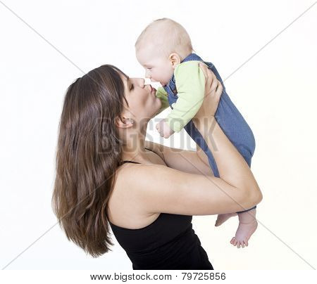 Mother Kisses Her Baby