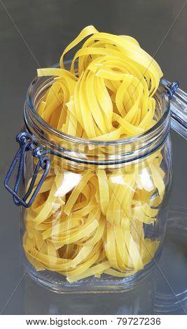 Pasta in a jar.