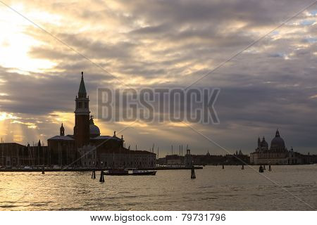 View Of San Giorgio Maggiore At Sunset