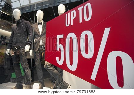 Sale In Clothes Store