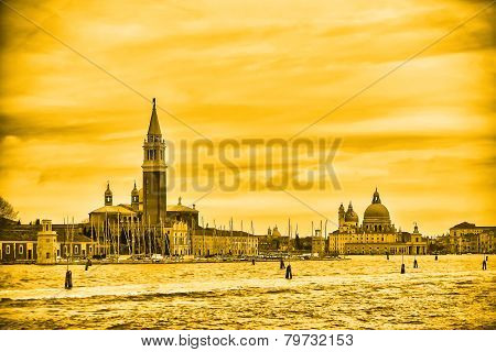 View Of San Giorgio Maggiore In Yellow