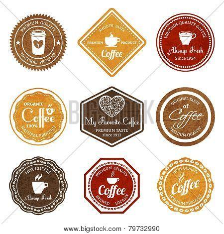 Coffee retro labels set