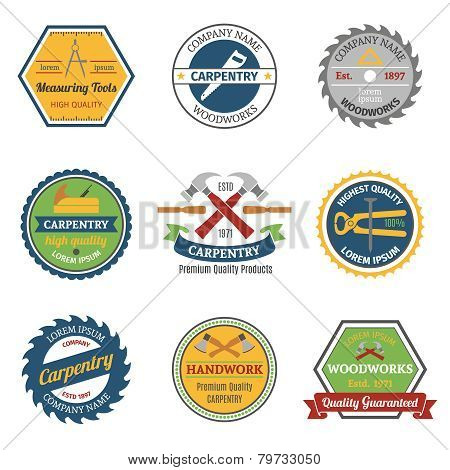 Carpentry color emblems